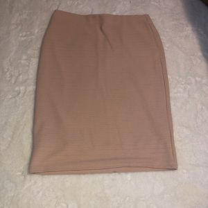 Light pink pencil skirt